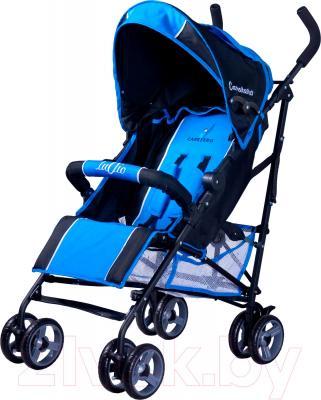 Детская прогулочная коляска Caretero Luvio (синий) - общий вид