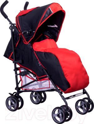 Детская прогулочная коляска Caretero Luvio (серый) - чехол для ног