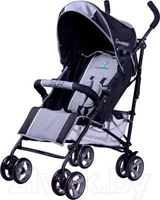 Детская прогулочная коляска Caretero Luvio (серый) - общий вид