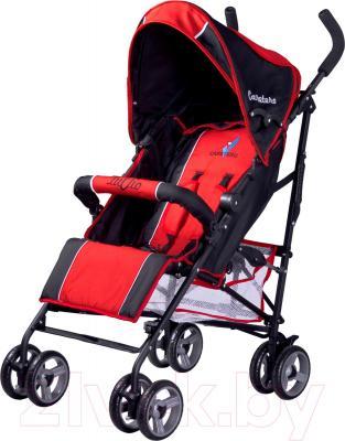 Детская прогулочная коляска Caretero Luvio (красный) - общий вид