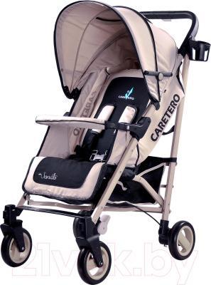 Детская прогулочная коляска Caretero Sonata (бежевый) - общий вид