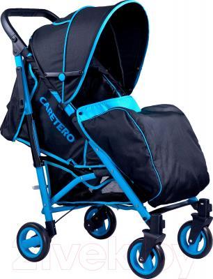 Детская прогулочная коляска Caretero Sonata (серый) - чехол для ног