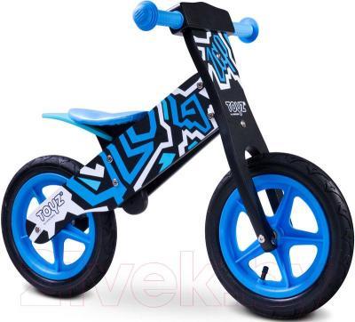 Беговел Toyz Zap (черно-синий) - общий вид