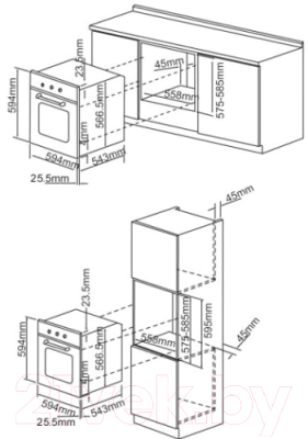 Электрический духовой шкаф Exiteq EXO-101