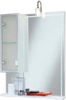 Шкаф с зеркалом для ванной Акватон Альтаир 65 (1A1000L1AR01L) - общий вид (аксессуары не входят в комплект)