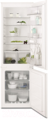 Холодильник с морозильником Electrolux ENN92841AW - общий вид