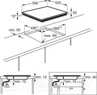 Индукционная варочная панель Electrolux EHI9654HFK