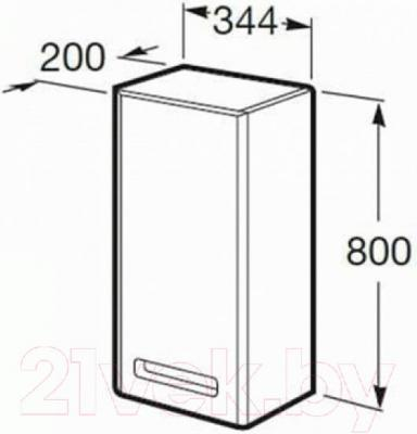 Шкаф-полупенал для ванной Roca The Gap ZRU9302737 (белый)