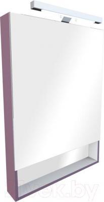 Шкаф с зеркалом для ванной Roca The Gap ZRU9302753 (фиолетовый)