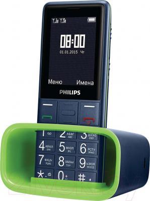 Мобильный телефон Philips Xenium E311 (темно-синий) - с базой для зарядки
