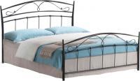 Двуспальная кровать Signal Siena 160x200 (черный металл) -