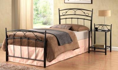 Односпальная кровать Signal Siena 90x200 (черный) - в интерьере