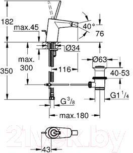 Смеситель GROHE Eurodisc Joystick 24036LS0