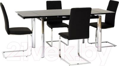 Обеденный стол Signal GD020 80x120 (черный)
