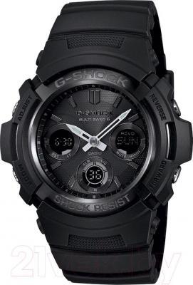 Часы мужские наручные Casio AWG-M100B-1AER - общий вид