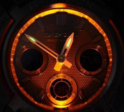 Часы мужские наручные Casio AWG-M100B-1AER - подсветка