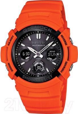 Часы мужские наручные Casio AWG-M100MR-4AER - общий вид