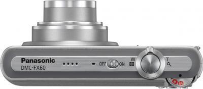 Компактный фотоаппарат Panasonic Lumix DMC-FX60EE-S - вид сверху
