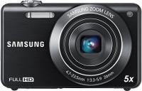 Компактный фотоаппарат Samsung ST96 (EC-ST96ZZBPBRU) Black - вид спереди
