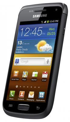 Смартфон Samsung I8150 Galaxy W Black (GT-I8150 FKASER) - общий вид