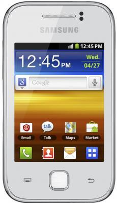 Смартфон Samsung S5360 Galaxy Y White (GT-S5360 UWASER) - вид спереди