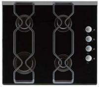 Газовая варочная панель Backer Classica Glass 603-2 Bk - вид сверху
