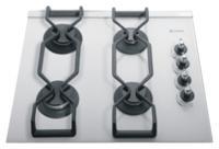 Газовая варочная панель Backer Classica Glass 603-2 White - вид спереди