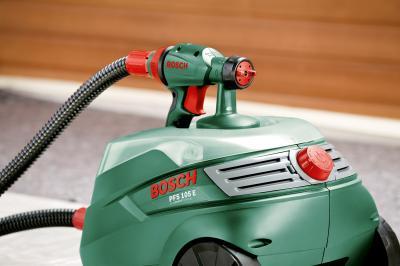 Краскопульт электрический Bosch PFS 105E (0.603.206.200) - в работе