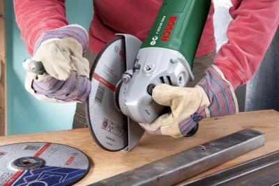 Угловая шлифовальная машина Bosch PWS 20-230 J (0.603.359.V00) - в работе