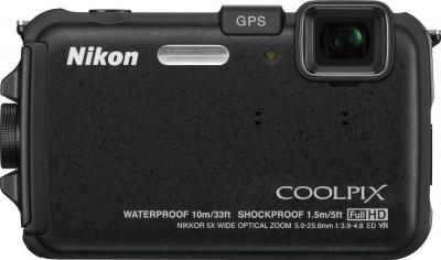 Компактный фотоаппарат Nikon Coolpix AW100 - вид спереди