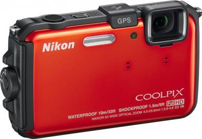 Компактный фотоаппарат Nikon Coolpix AW100 - общий вид