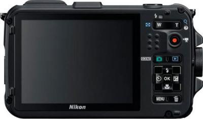 Компактный фотоаппарат Nikon Coolpix AW100 - вид сзади