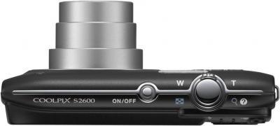 Компактный фотоаппарат Nikon Coolpix S2600 Black with Pattern - вид сверху