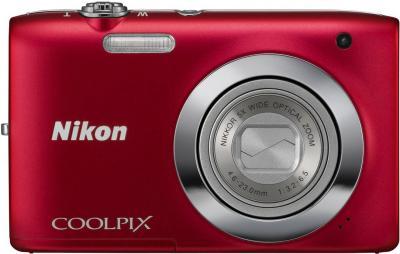 Компактный фотоаппарат Nikon Coolpix S2600 Red - общий вид