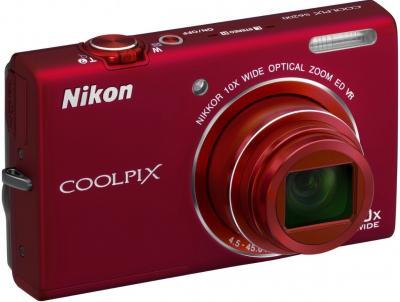 Компактный фотоаппарат Nikon Coolpix S6200 (Red) - общий вид