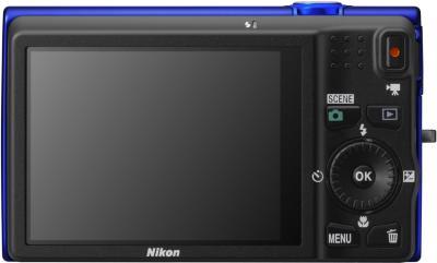 Компактный фотоаппарат Nikon Coolpix S6200 Blue - общий вид