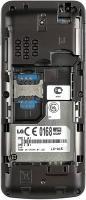 Мобильный телефон LG A155 Gold-Gray - с открытой крышкой