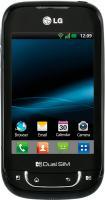 Смартфон LG P698 Black - вид спереди