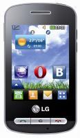 Мобильный телефон LG T315i Black - вид спереди