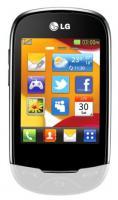 Мобильный телефон LG T500 White - общий вид
