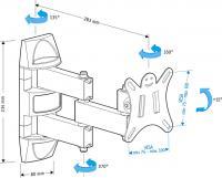 Кронштейн для телевизора Holder LCDS-5039 - схема