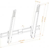 Кронштейн для телевизора Holder LEDS-7022 (металл) - схема