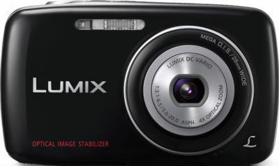 Компактный фотоаппарат Panasonic Lumix DMC-S1EE-K - вид спереди
