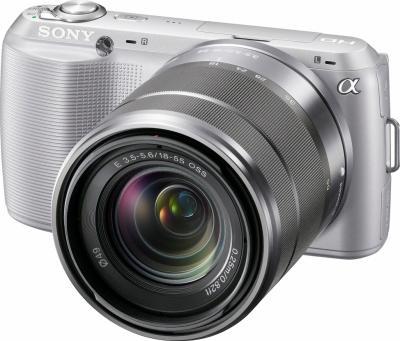Беззеркальный фотоаппарат Sony NEX-C3K Silver - общий вид