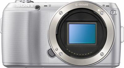 Беззеркальный фотоаппарат Sony NEX-C3K Silver - общий вид без объектива