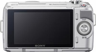 Беззеркальный фотоаппарат Sony NEX-C3K Silver - вид сзади