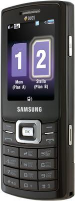 Мобильный телефон Samsung C5212 Black - вид сбоку