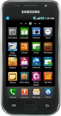 Смартфон Samsung i9003 Galaxy S scLCD (16Gb) (GT-I9003 RWJSER) - вид спереди