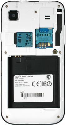 Смартфон Samsung i9003 Galaxy S scLCD (16Gb) (GT-I9003 RWJSER) - с открытой крышкой