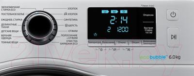 Стиральная машина Samsung WW60J6210DS/LP - панель управления